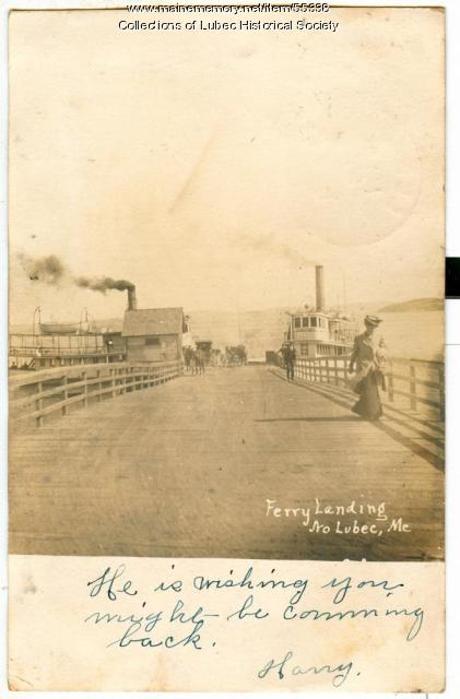 Ferry Landing, North Lubec, ca. 1906