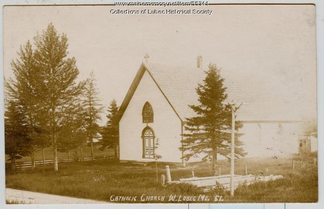Catholic Church, West Lubec, ca. 1910