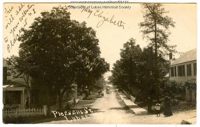 Pleasant Street, Lubec, ca. 1905