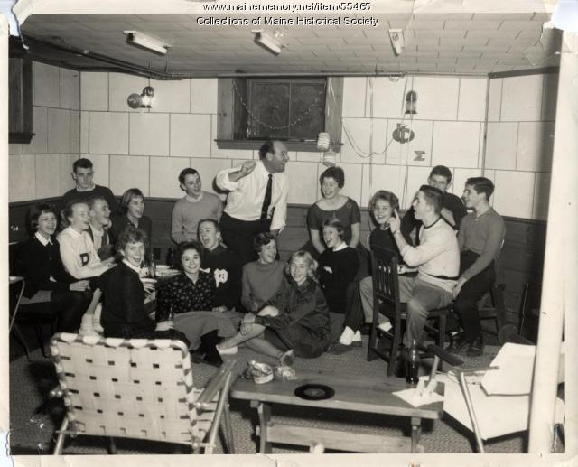 """Dave Astor Show"" rehearsal, Portland, ca. 1960"