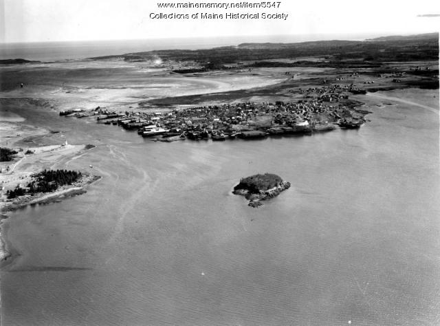 Aerial view looking toward Lubec, ca. 1950