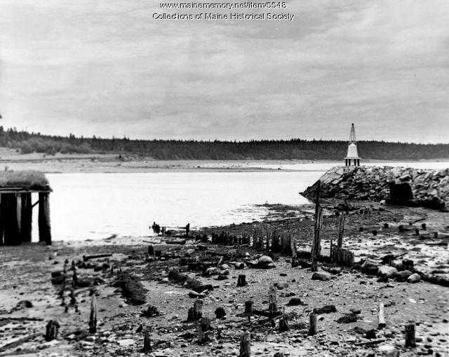 Lubec-Campobello bridge site, 1957