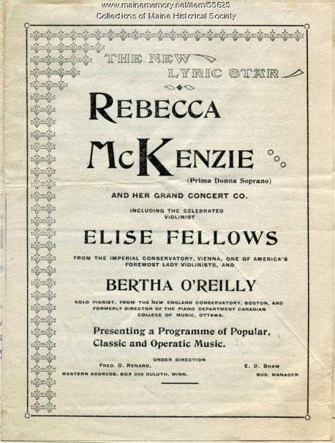 McKenzie Tour Co. brochure, ca. 1895