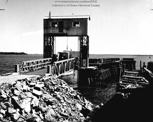 Ferry terminal at Lincolnville, ca. 1959