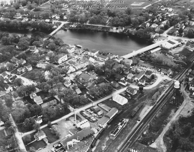 Aerial view of Newport, ca. 1956