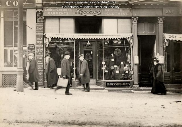 Levine's Clothing Store, ca. 1912