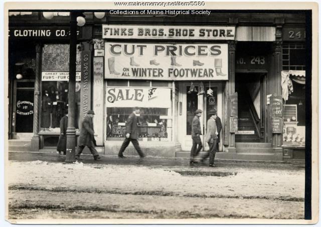 Finks Bros. Shoe Store, ca. 1912
