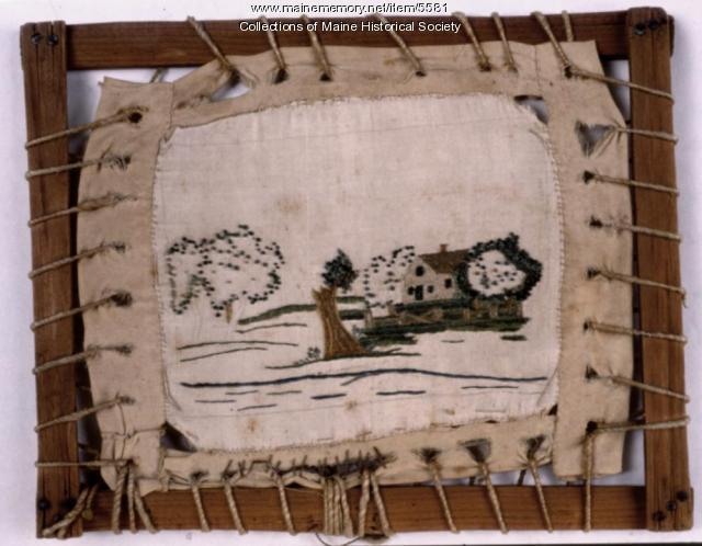 Unfinished embroidery, ca. 1800