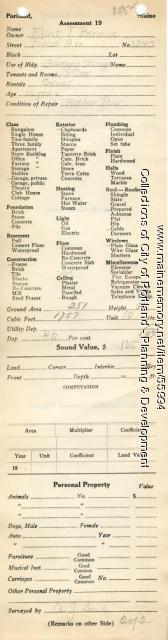 Assessor's Record, 1343 Forest Avenue, Portland, 1924