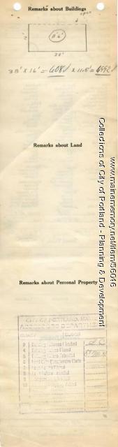 Assessor's Record, 1271 Forest Avenue, Portland, 1924