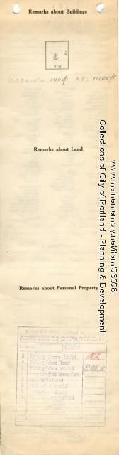 Assessor's Record, 1286 Forest Avenue, Portland, 1924