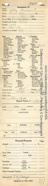 Assessor's Record, 1483-1491 Forest Avenue, Portland, 1924