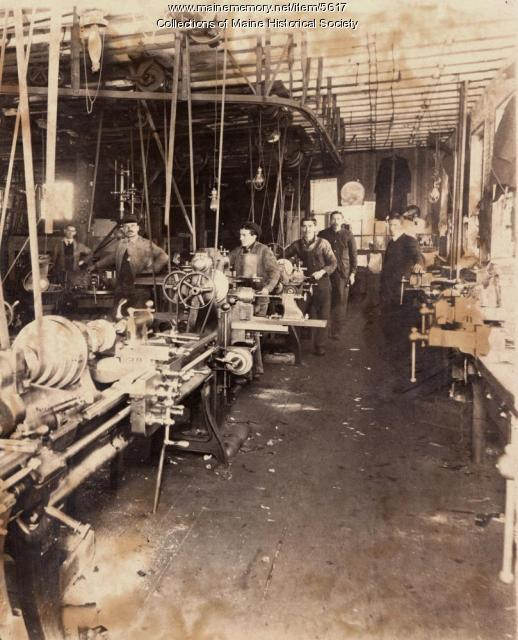 Portland Company marine production shop, ca. 1900
