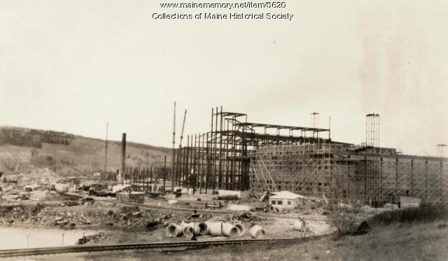 Maine Seaboard Paper Co. plant construction