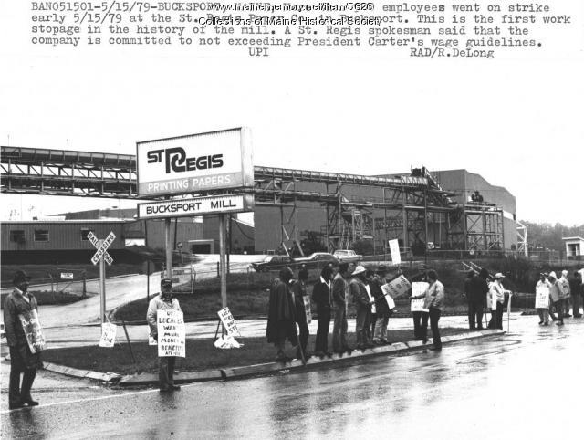 Strike at St. Regis Paper, Bucksport, 1979