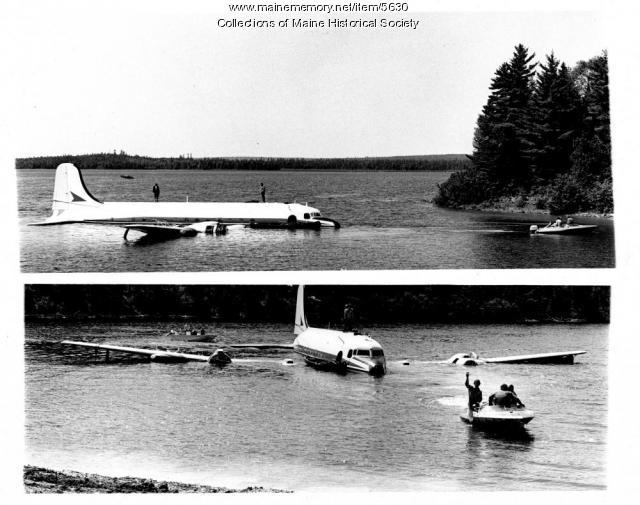 Plane rescue, Eagle Lake, 1979