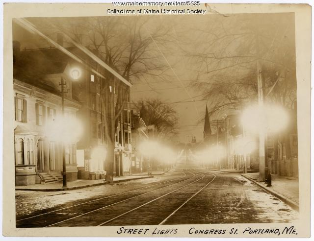 Portland street lights, ca. 1920