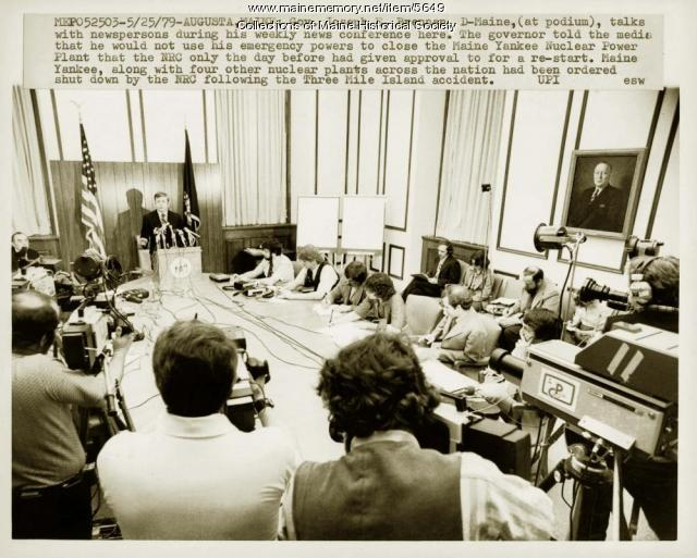Press conference with Gov. Joseph Brennan, May 25, 1979