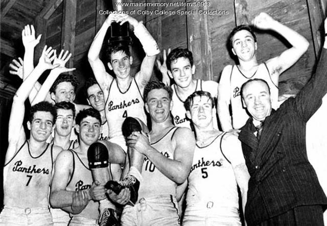 YMCA basketball team, Waterville, 1944