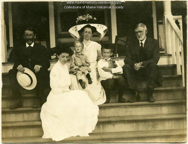 Fellows-White family, Skowhegan, ca. 1910