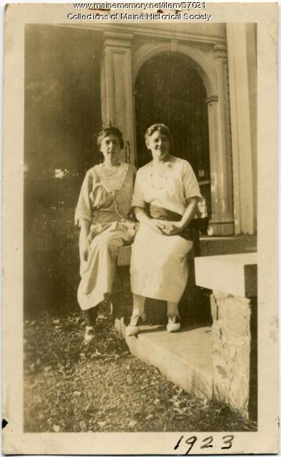 Elise Fellows White, Zaidee Morrison, Skowhegan, 1923
