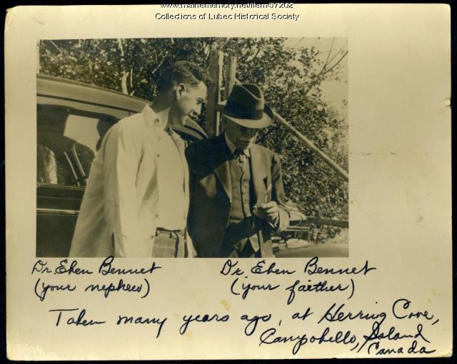 Two Dr. Bennets, Campobello Island, ca. 1944