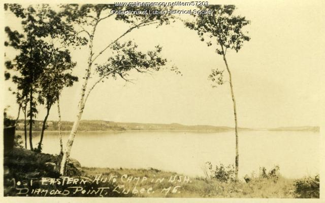 Diamond Point Auto Camp, Lubec, ca. 1907