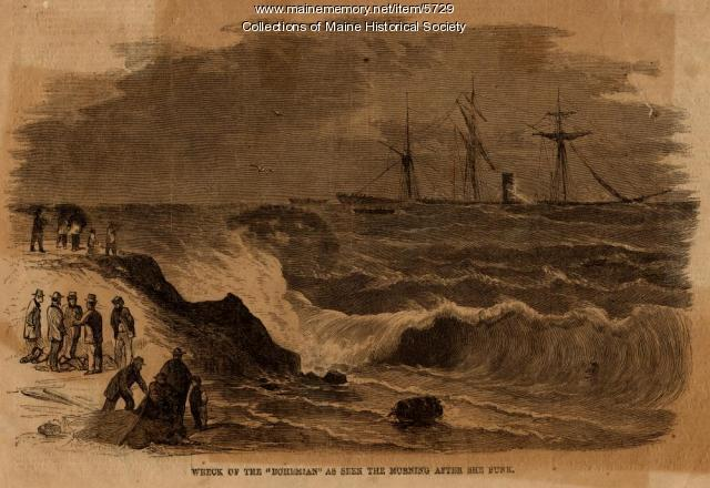 Wreck of the Bohemian, Cape Elizabeth, 1864