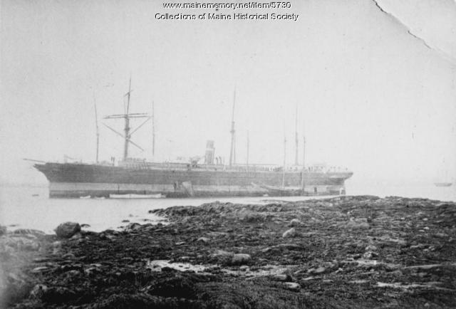The Brooklyn steamer wrecked in Casco Bay, 1883