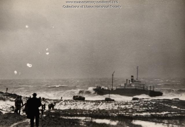 The 'Oakey L. Alexander,' Cape Elizabeth, March 3, 1947