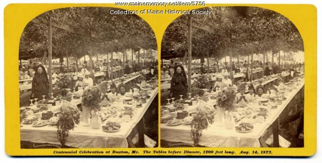 Centennial Celebration, Buxton,  August 14, 1872