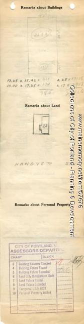28 Hanover Street, Portland, 1924