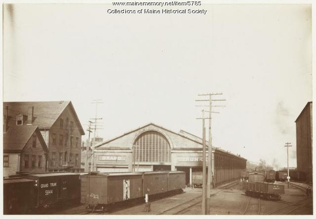 Grand Trunk Railroad Terminal, Portland, ca. 1900