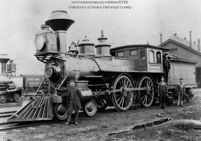 Grand Trunk locomotive, ca. 1875