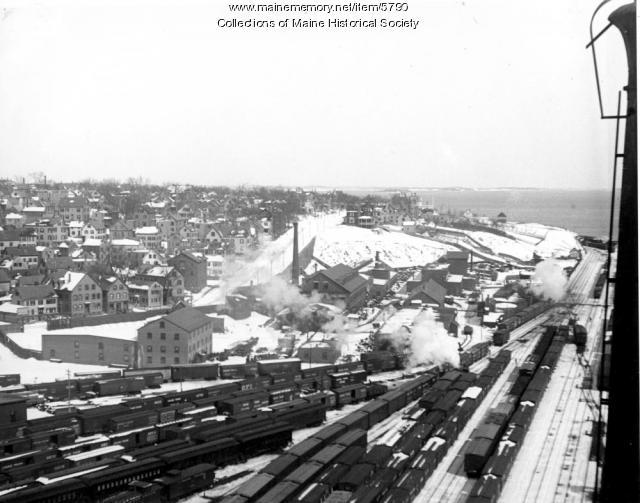 Grand Trunk Rail yards, Portland, ca. 1910