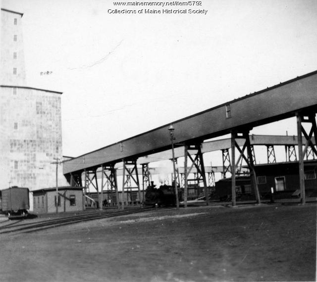 Grand Trunk Railroad grain elevator, 1899