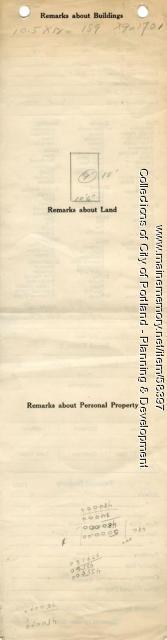 Assessor's Record, 4 Homestead Avenue, Portland, 1924