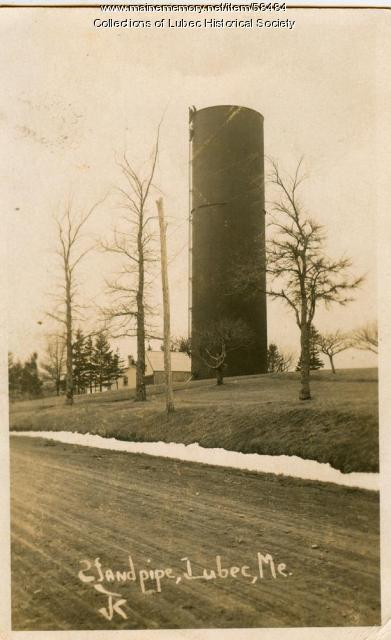 Standpipe, Lubec, ca. 1914