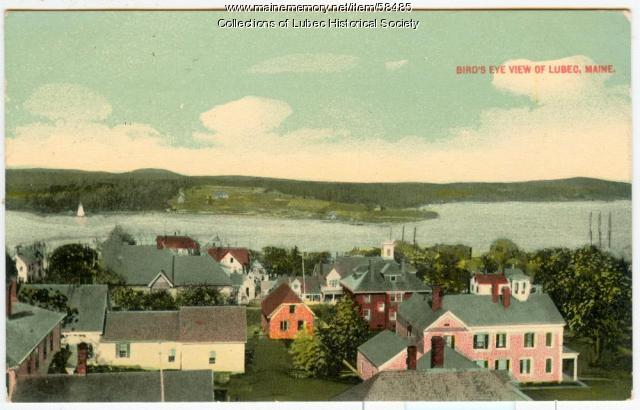 Bird's Eye View, Lubec, ca. 1913