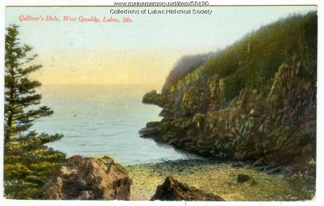 Gulliver's Hole, West Quoddy Head, Lubec, ca. 1910