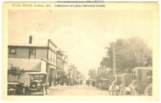 Water Street, Lubec, ca. 1926