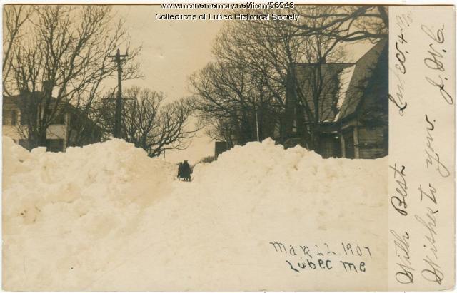 Snow, Lubec, 1907