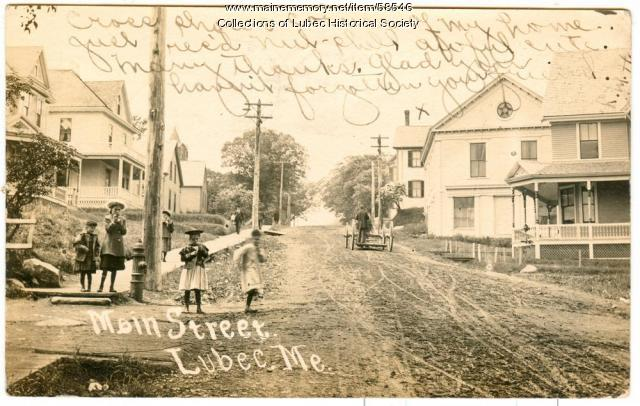 Main Street, Lubec, 1906