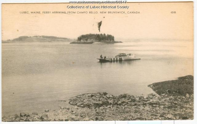 Auto ferry, Lubec, ca. 1952