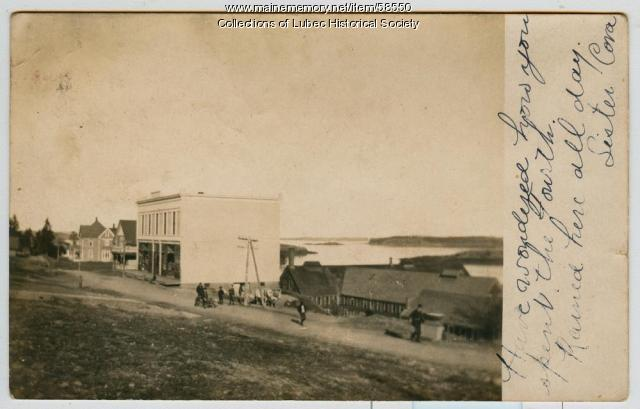 Lawrence Brothers store and factory, North Lubec, ca. 1906