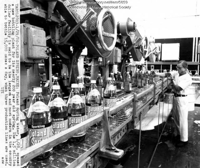 Poland Spring water factory, 1980