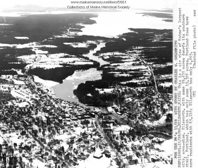 Aerial view of Ellsworth, 1980