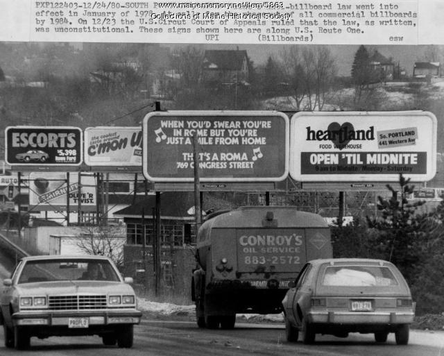 U.S. Route 1, South Portland, 1980