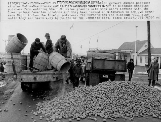 Potato blockade, Fort Fairfield, 1980