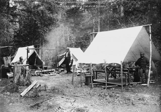 Sandy Point Camp, Ragged Lake, 1896